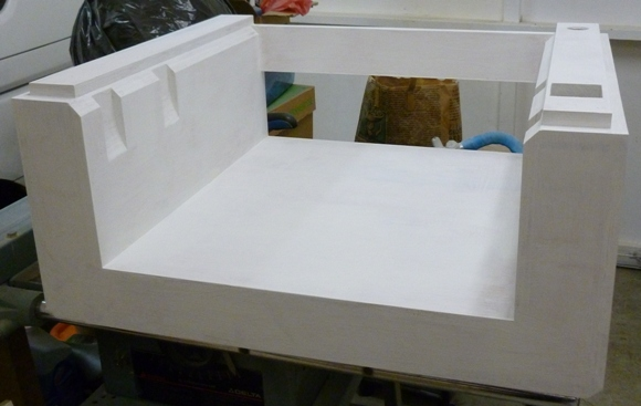 CNC base painted with primer