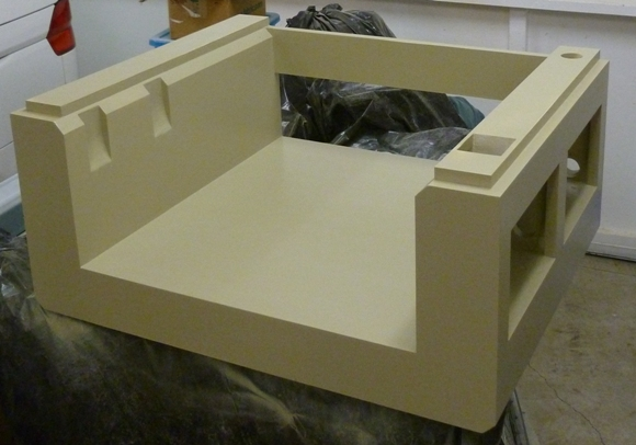 Painted CNC router base