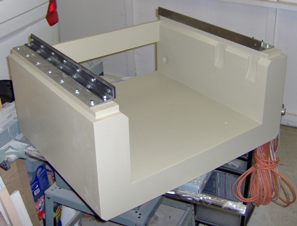 CNC base with rails