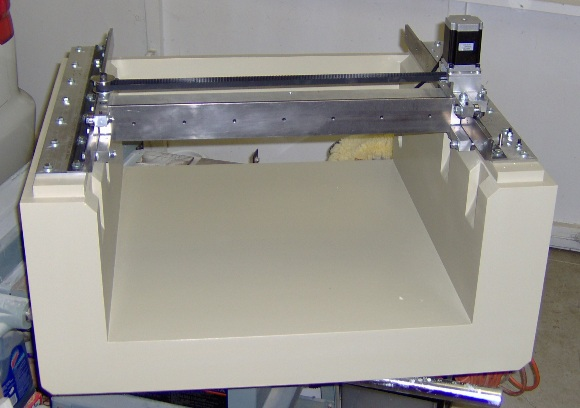 CNC gantry on base