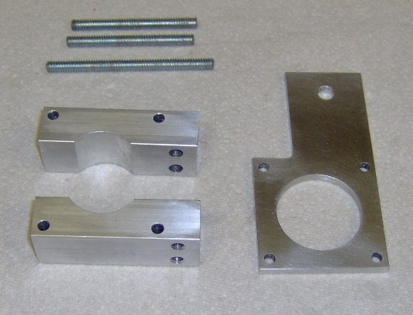 CNC Z-axis motor mount pieces