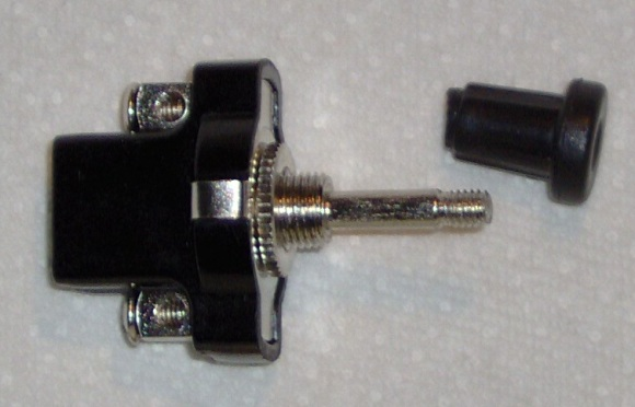 Pull switch with grip removed