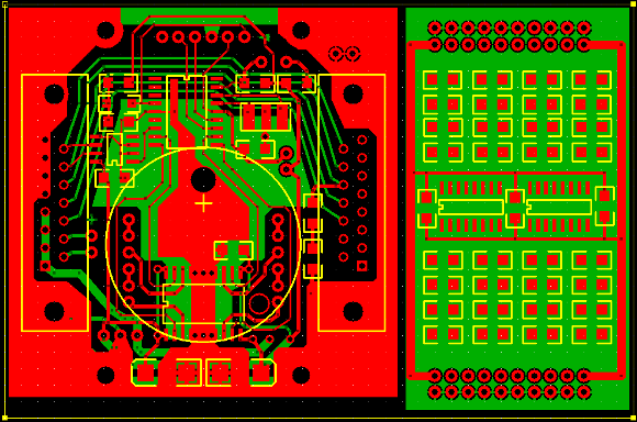 PCB artwork for gauge electronics prototype